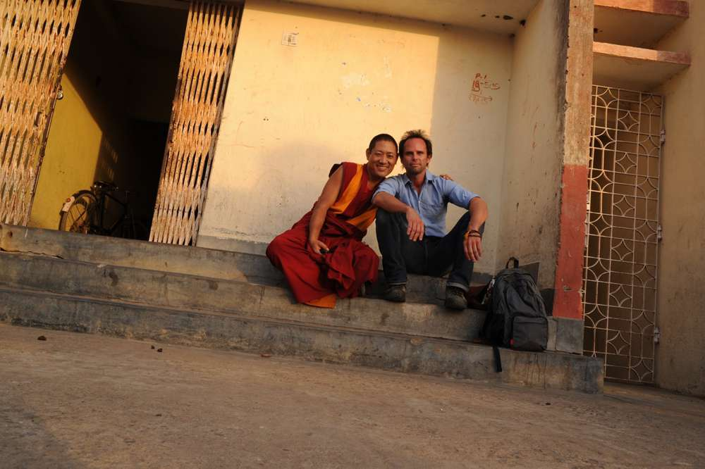 Goggins made friends with a Buddhist monk at Bodghaya.