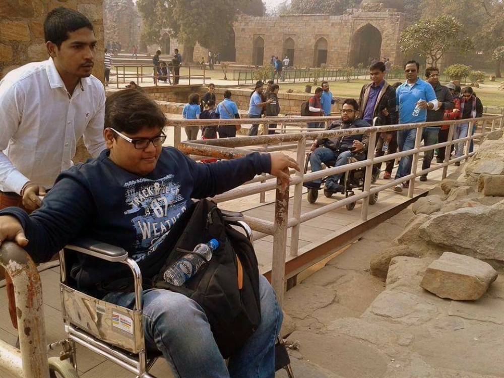 A tour of the Qutb Minar was organised in January. (Photo courtesy: Planet Abled)