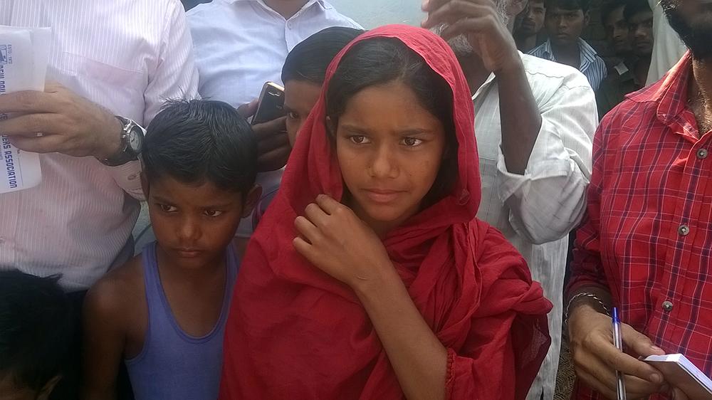 Minhaj Ansari's sister Gulroshan in Dighari village in Jamtara in Jharkhand. (Photo credit: Dheeraj Kumar).