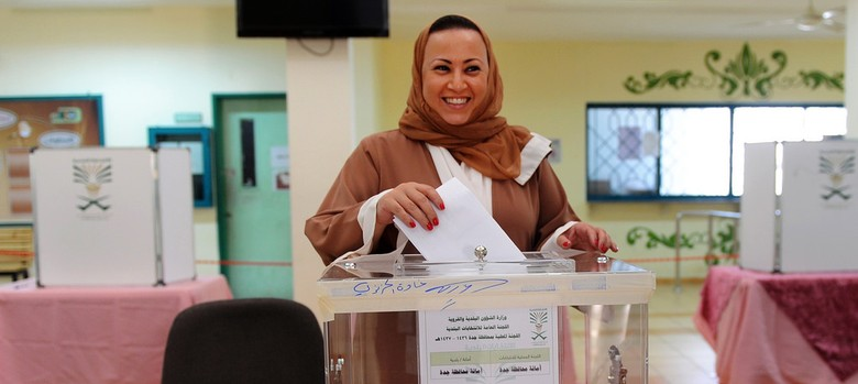 'You may find this laughable but hey, it's a start': Women in Saudi Arabia vote for the first time