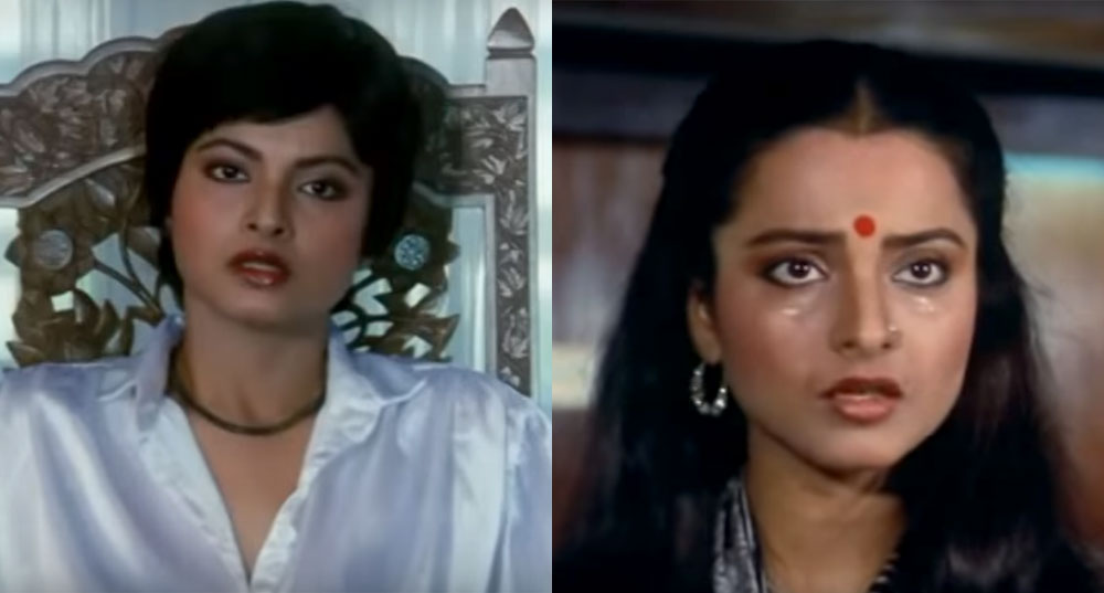 Rekha before and after in 'Agreement'.