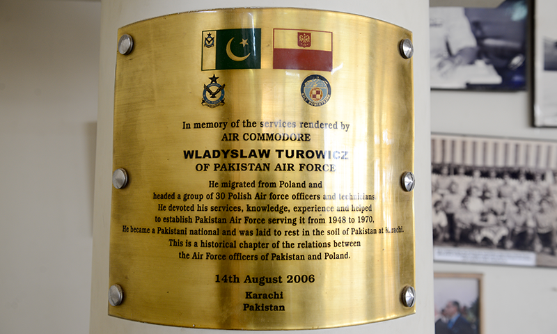 Plaque at PAF Museum Karachi.