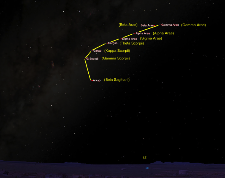Star map route to the Bunya Mountains. Starry Night Education