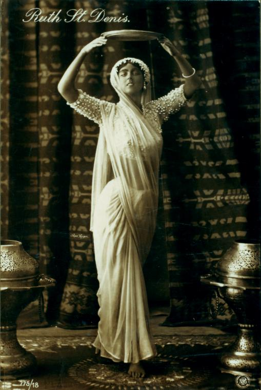 Ruth St Denis in 'The Incense'. (Image courtesy: New York Public Library).