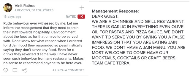How do you write a complaint to the owner of a restaurant about the poor service?