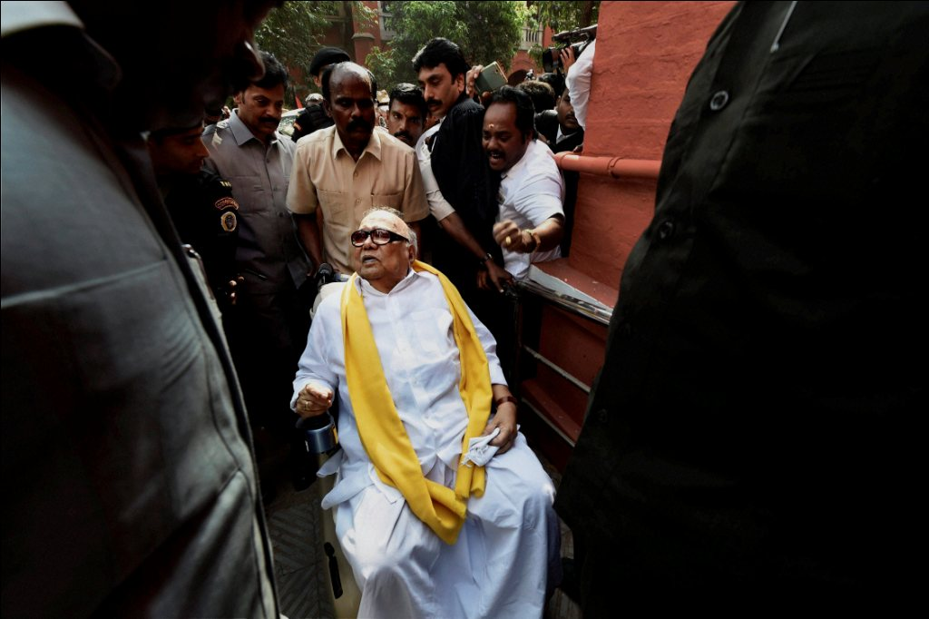 M Karunanidhi. PTI Photo by R Senthil Kumar