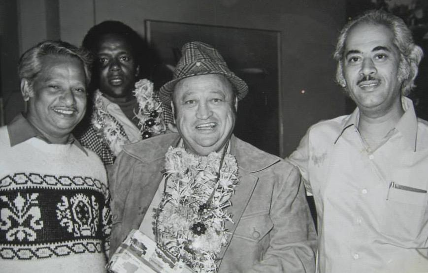 Actor Allen Fitzpatrick (middle), Yash Johar (left) and Rod Perry (back). Courtesy Tammy McDonald.