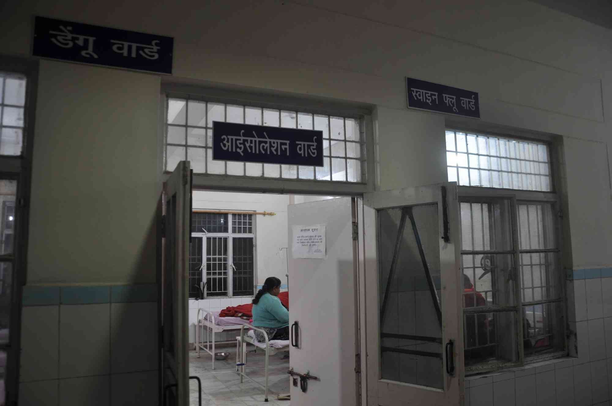 An isolation ward for swine flu patients at Coronation hospital in Dehradun, Uttarakhand. (Photo credit: IANS).