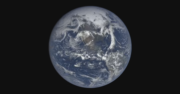 History in a hurry: Watch what a year on Earth looks like in three minutes from a million miles away