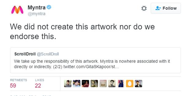 No, Myntra did not create the mythological parody ad that inspired #BoycottMyntra