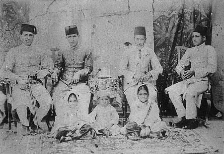 KA Hamied with his his father, brothers, nieces, and son Yusuf.