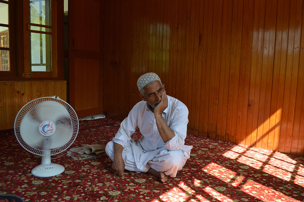 Ghulam Rasool Pandit, father of the slain militant Naseer Ahmed Pandit. Credit: Sameer Mushtaq