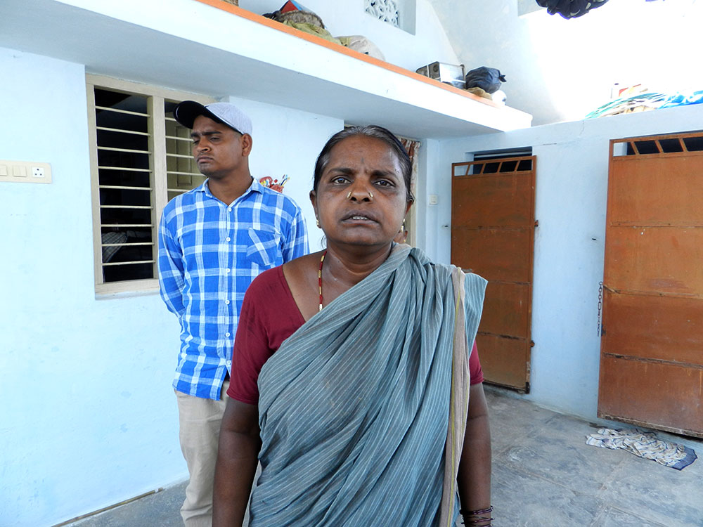 T Chennamma, 50, mother of T Munnaiah, and T Anjanaiah, his younger brother. 'He used to leave at 7 am and return only at 6 pm,' she said. 'When it came to work, he never looked at the time. He was always in touch with EGS workers even when at home.' Photo: Mridula Chari