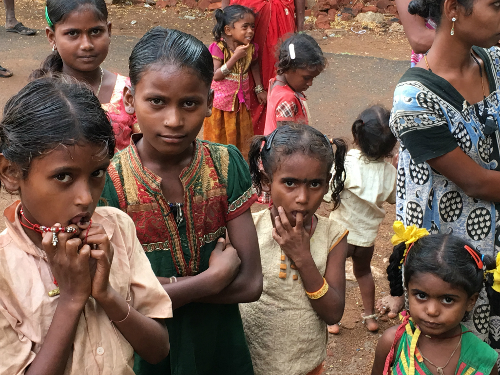 Tribal children in Tamil Nadu's Krishnagiri district. In the poorer parts of the state, the prevalence of anaemia, poor healthcare and illiteracy is high.