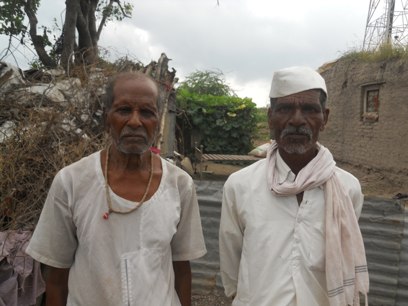 Landless Dalits Vinayak Pawar (left) and Davidas Thorat in Pal village have been demanding land for the past 30 years now. (Photo credit: Rahi Gaikwad).