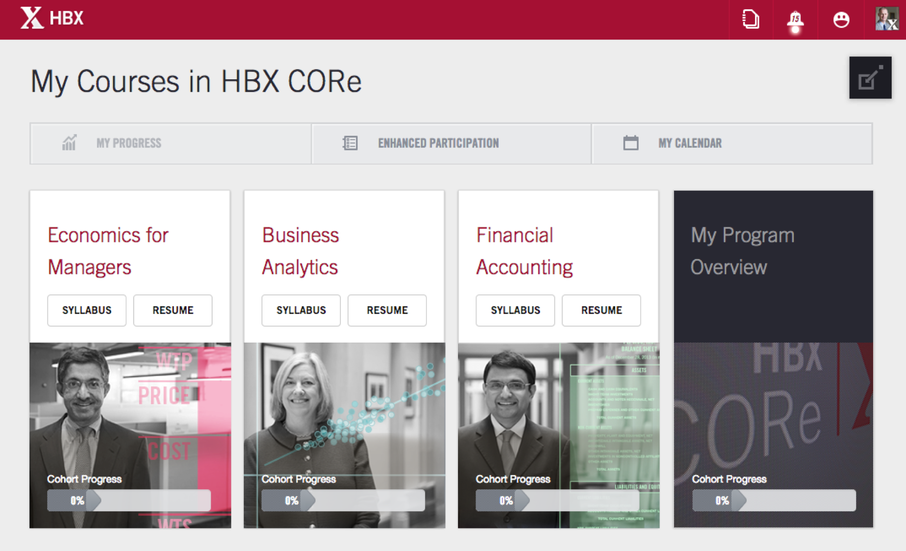 HBX Platform | Courses offered in the HBX CORe program
