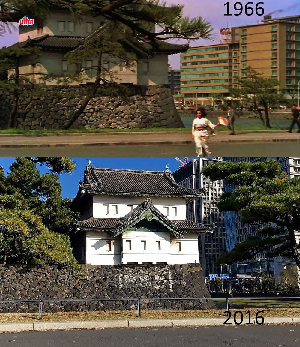 "Imperial Palace: An elderly man told Prabhune that ""the building on the extreme right was the old Imperial Hotel, which has since then been rebuilt""."