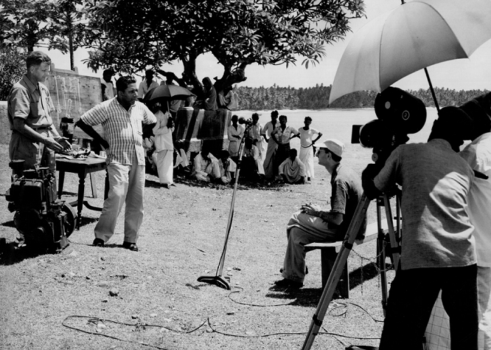 Jehangir Bhownagary (centre) during a film shoot. Courtesy Peter Sutoris.