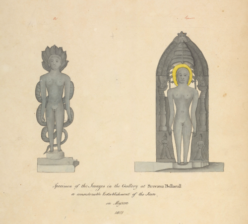 Sculptures at Sravana Belgola (Karnataka), 1801 (WD1065, folio 57)