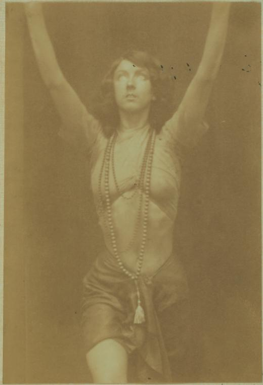 Ruth St Denis in 'The Yogi'. (Image courtesy: New York Public Library).