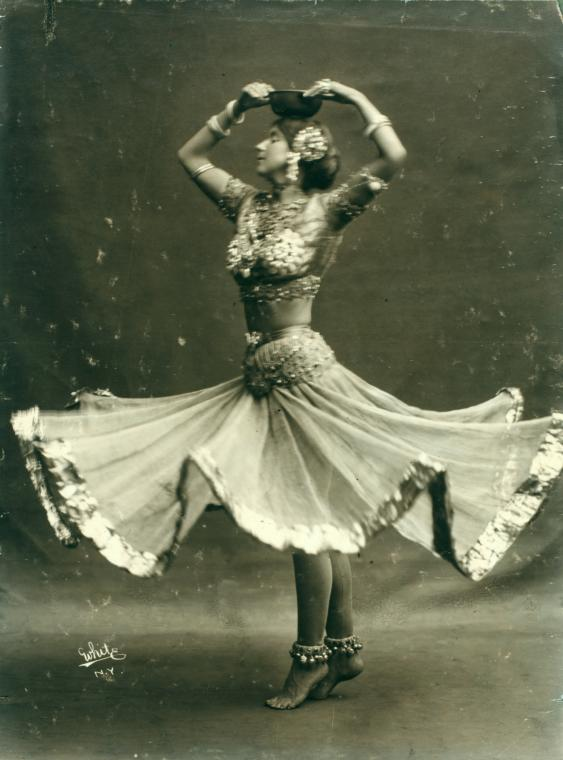 Ruth St Denis in 'Radha'. (Image courtesy: New York Public Library).