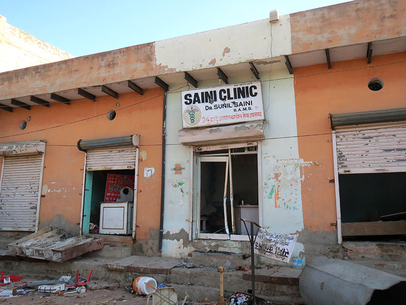 Shops and establishments run by Sainis were targeted in Jhajjar.