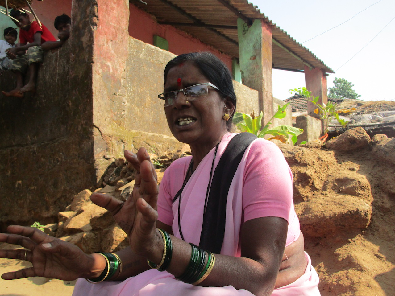 Anusya Ramesh Lakhar who has been running the aanganwadi at Siwali village for the last 30 years. (Photo: Nidhi Jamwal)