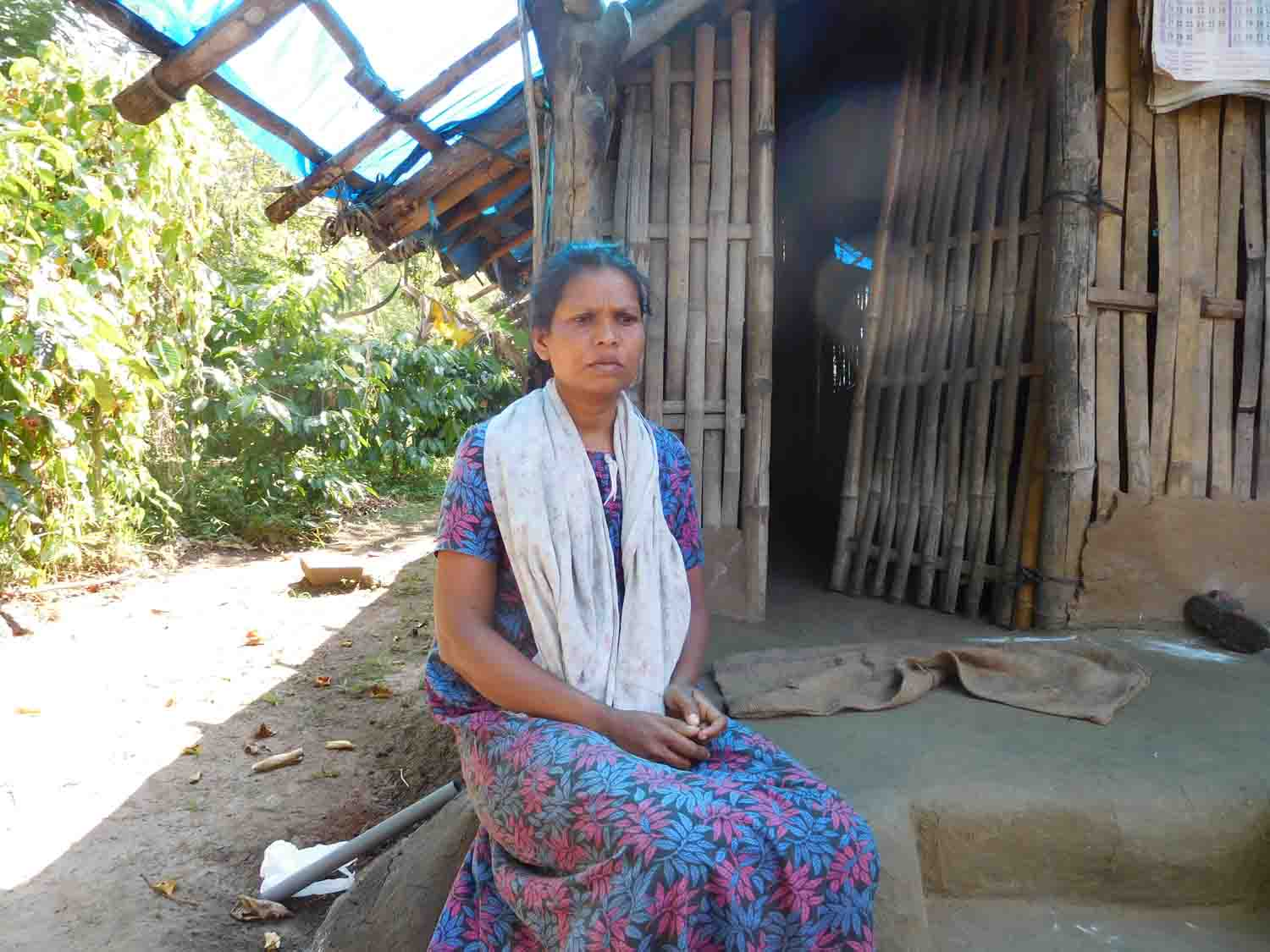 Radha complains of residual health problems after recovering from Kyasanur Forest Disease. Photo: TA Ameerudheen.