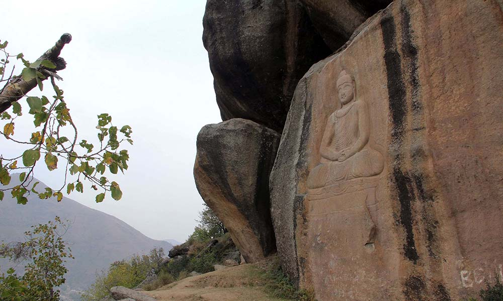 The defacement of the Buddha had sparked worldwide anger and concern.