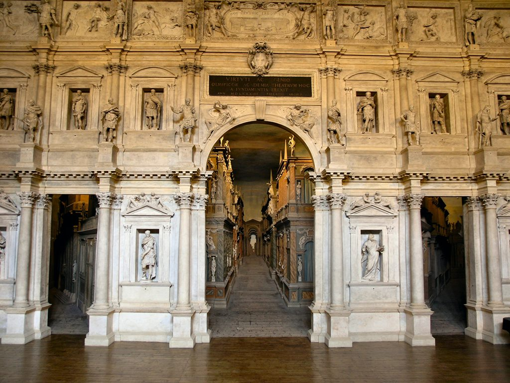 Teatro Olimpico. Image credit: Peter Geymayer/Wikimedia Commons