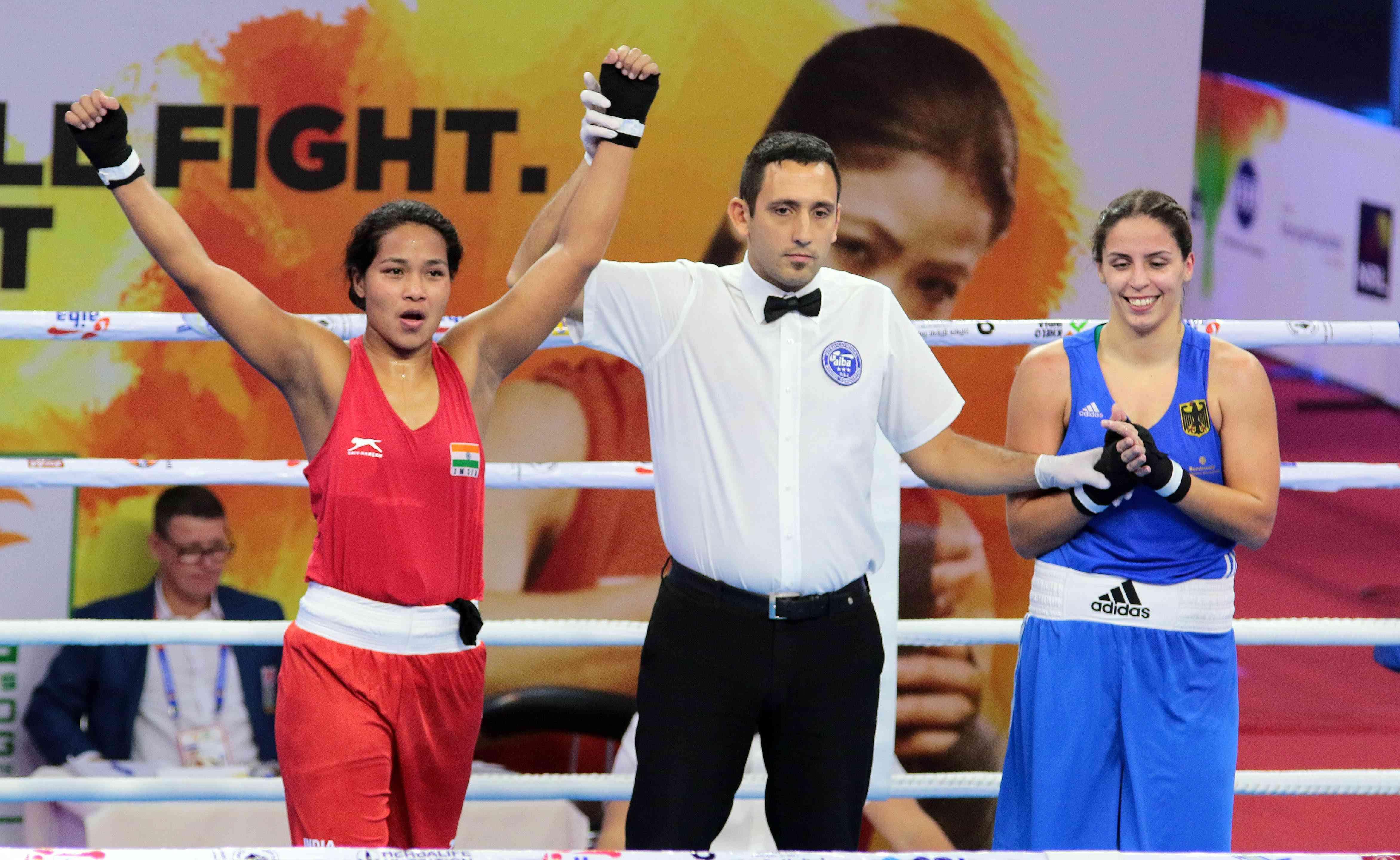 L Sarita Devi, Manisha Mouna give India flying start on opening day
