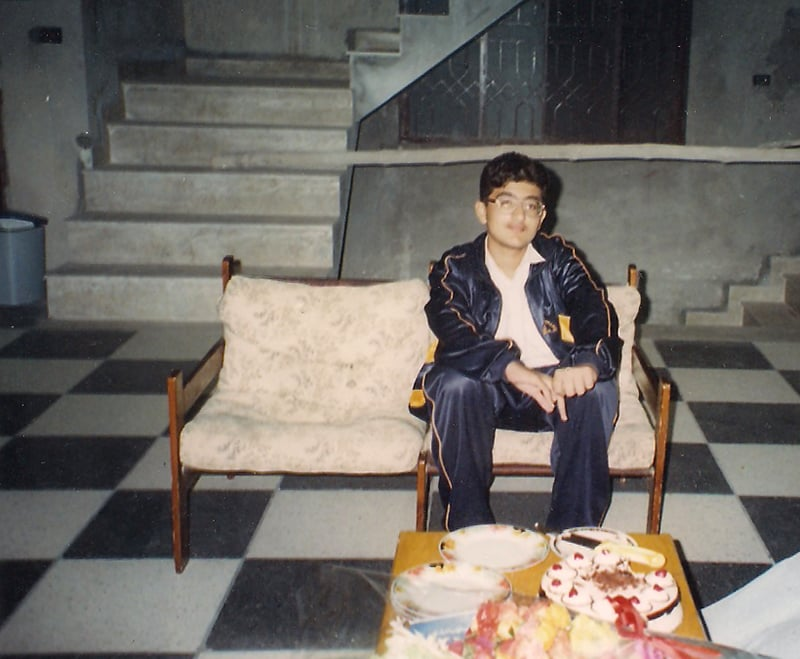 13-year old me in 1997-98, during a visit to my house (under construction at the time) in Lahore.