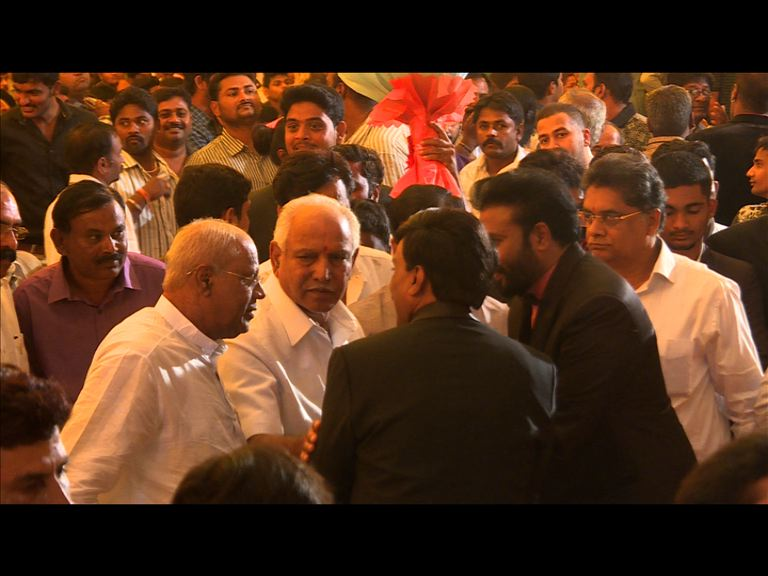 Karnataka BJP chief BS Yeddyurappa at the wedding.