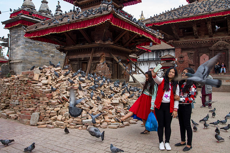 Kathmandu Durbar Square was the worst hit of the UNESCO World Heritage Sites in the Kathmandu Valley. Though work on reconstruction has been rather slow, some debris have been removed and tourists have started to return.