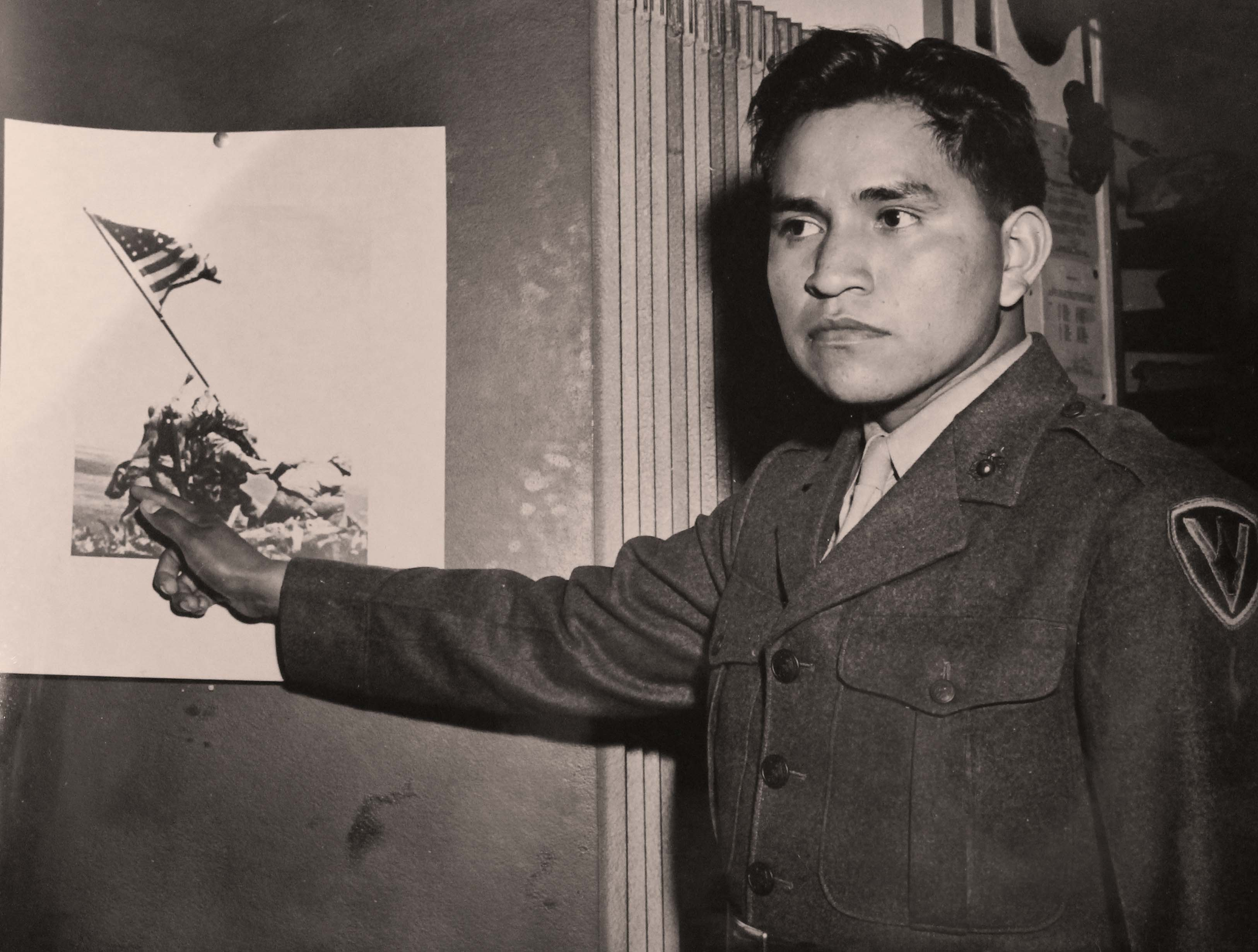 Ira Hayes and the Iwo Jima picture.