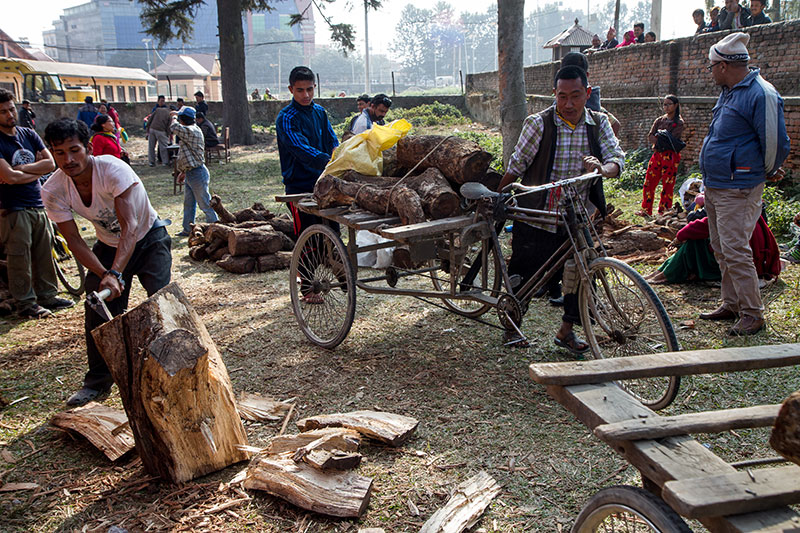 With cooking gas and kerosene in short supply, the Nepali government sold firewood at Rs 20/kg. But burning wood exacerbated Kathmandu's already dangerously high levels of air pollution.