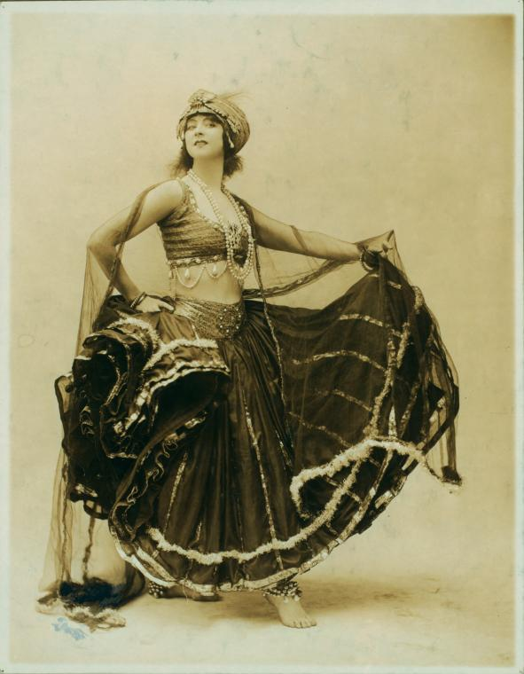 Ruth St Denis in 'East Indian Nautch Dance'. (Image courtesy: New York Public Library).