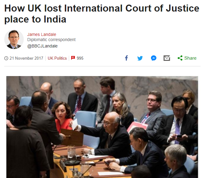 India appreciates UK's decision to withdraw candidate from ICJ elections