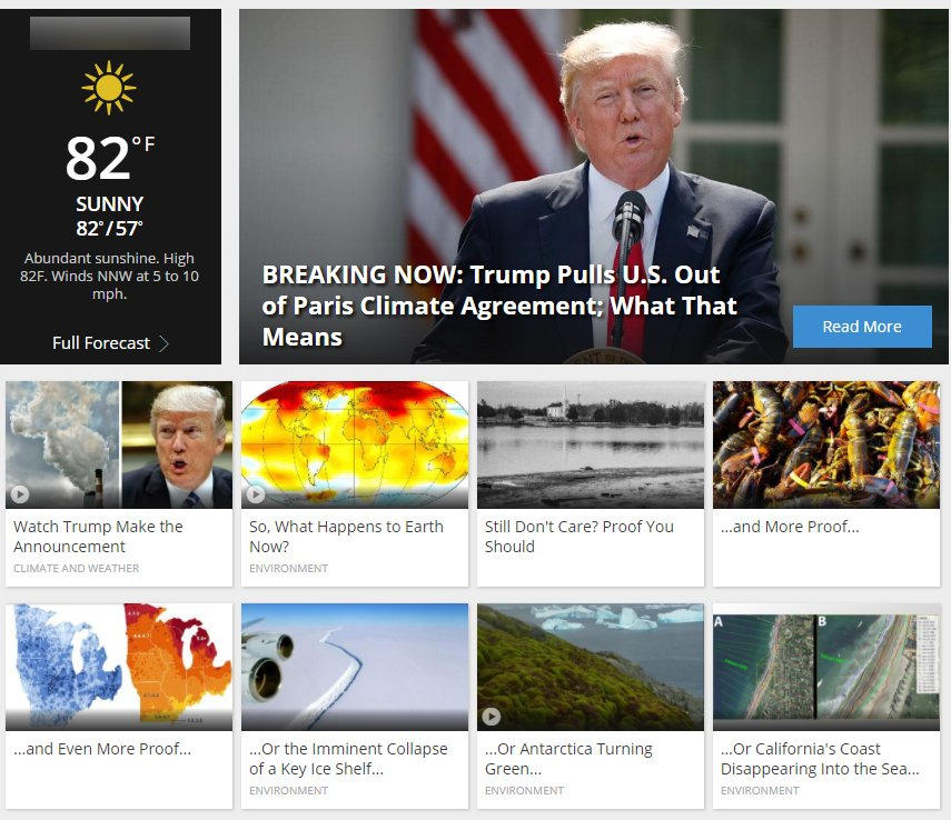 Weather Channel sends Trump a message: 'Still Don't Care? Proof You Should'