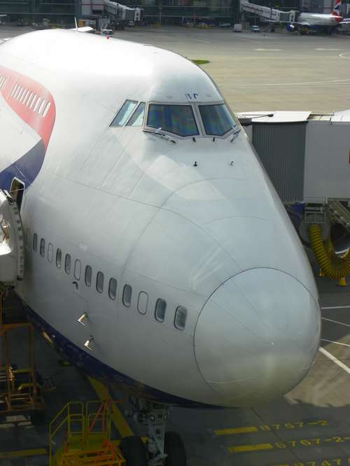 The nose of the Boeing 747.