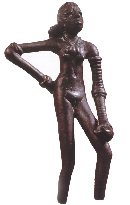 Dancing Girl, on display at the National Museum in New Delhi.