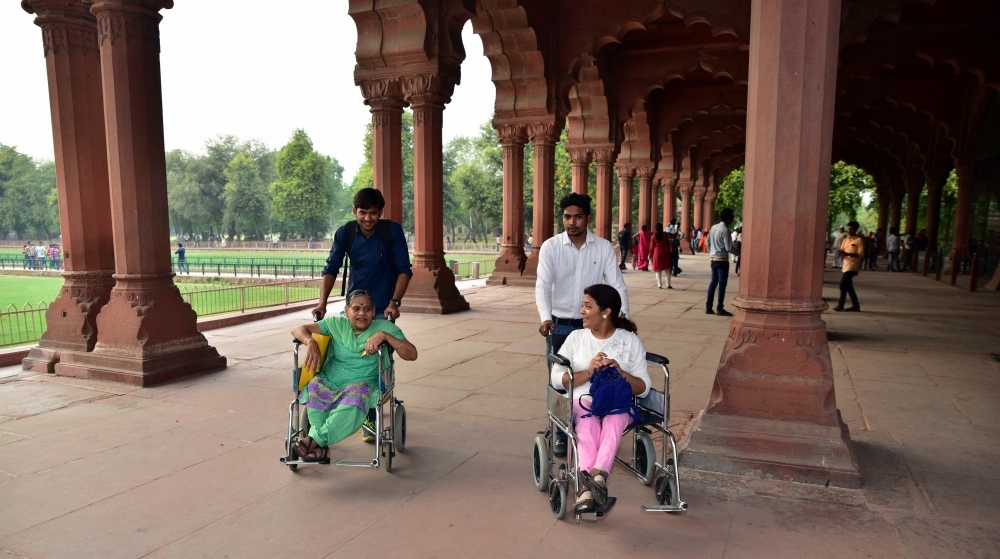 Wheelchair users at Planet Abled's trip to the Red Fort. (Photo courtesy: Planet Abled)