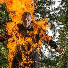 Watch: This stuntman's speciality is setting himself on fire