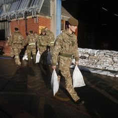 UK sends hundreds of troops to eastern Europe in biggest Nato build-up since Cold War
