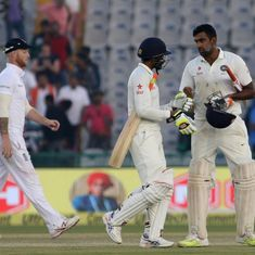 England almost seized the initiative on day two but Ashwin battled gamely to take it away from them