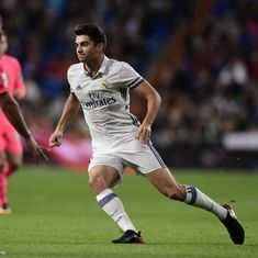 Following in his father's footsteps? Watch Zinedine Zidane's son Enzo score in Real Madrid's 6-1 win
