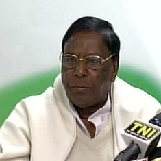 V Narayanasamy takes oath as Puducherry's chief minister