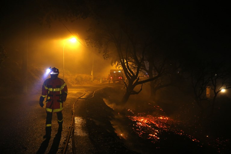 Wind-driven fires hopscotch through south of France, Corsica