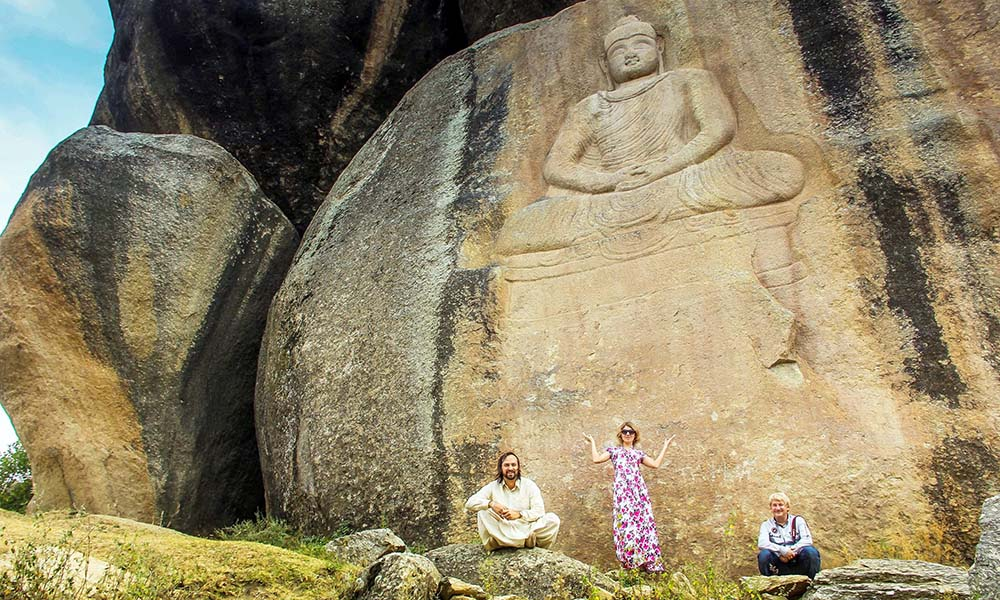 Russian tourists said they were excited to visit the iconic Buddha.