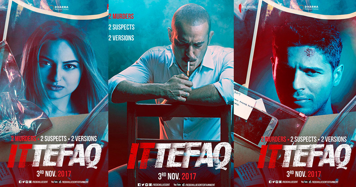 'Ittefaq' Actors Sidharth Malhotra And Sonakshi Sinha Introduce Their Characters